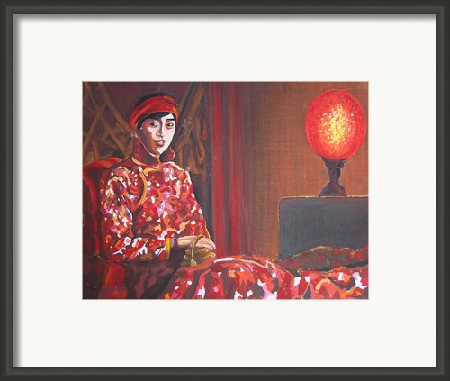 Raise The Red Lantern Framed Print By Karen Coggeshall