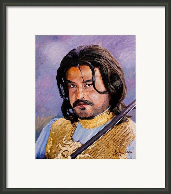 Rajani Kanth Portrait Framed Print By Dominique Amendola