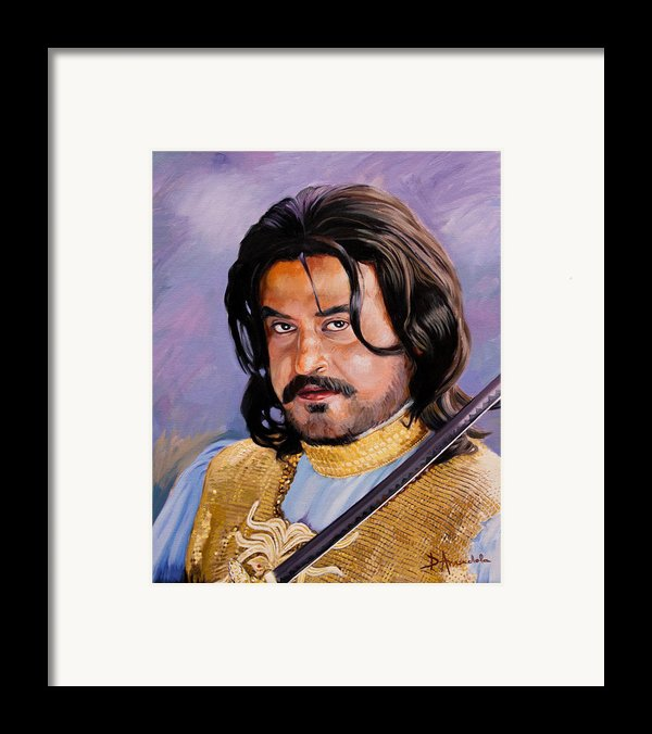Rajani Kanth Portrait Framed Print By Dominique Amendola