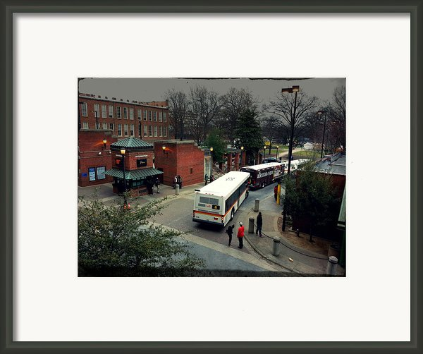 Raleigh Bus Terminal - Evening Framed Print By Paulette Wright