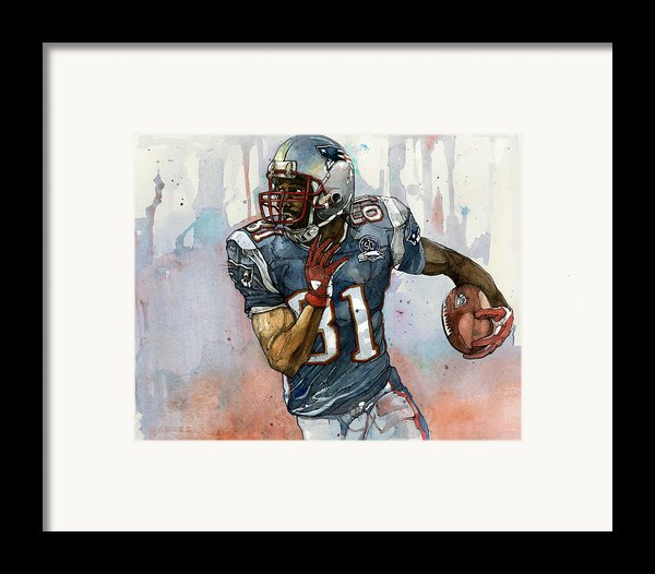 Randy Moss Framed Print By Michael  Pattison