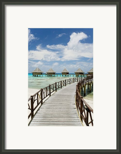 Rangiroa Atoll Boardwalk Framed Print By M Swiet Productions