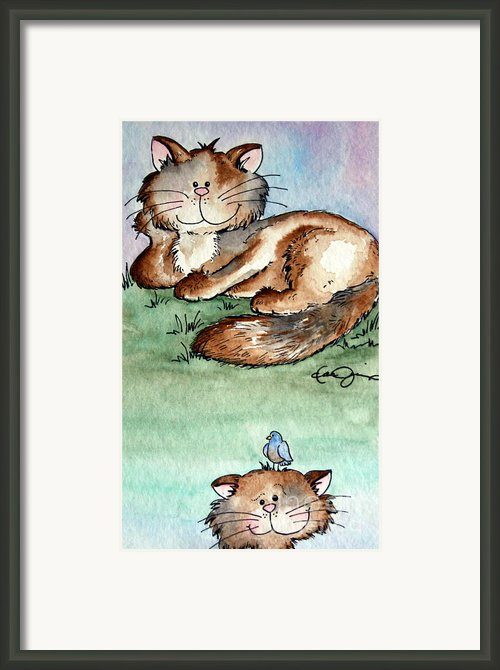 Rascal And Pal Framed Print By Danise Abbott