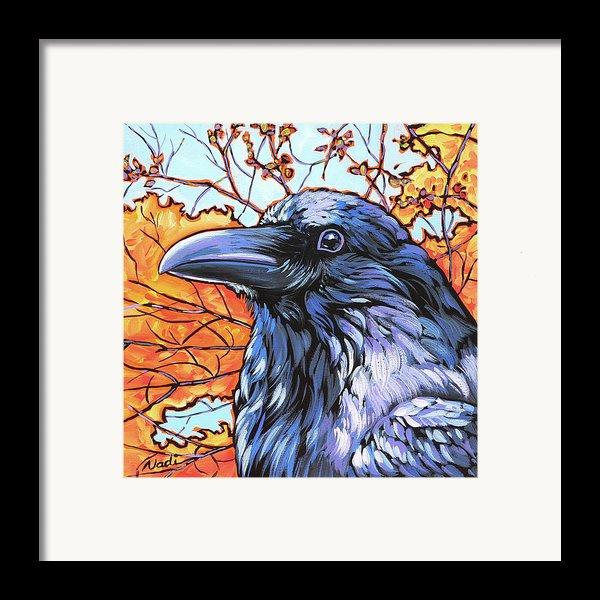 Raven Head Framed Print By Nadi Spencer