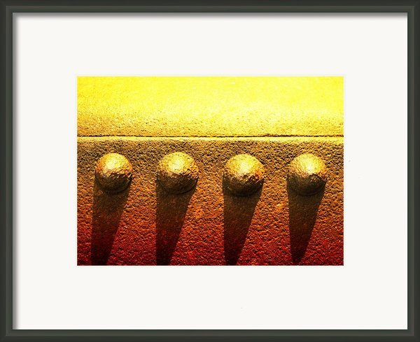Raw Steel 4 Framed Print By Tom Druin