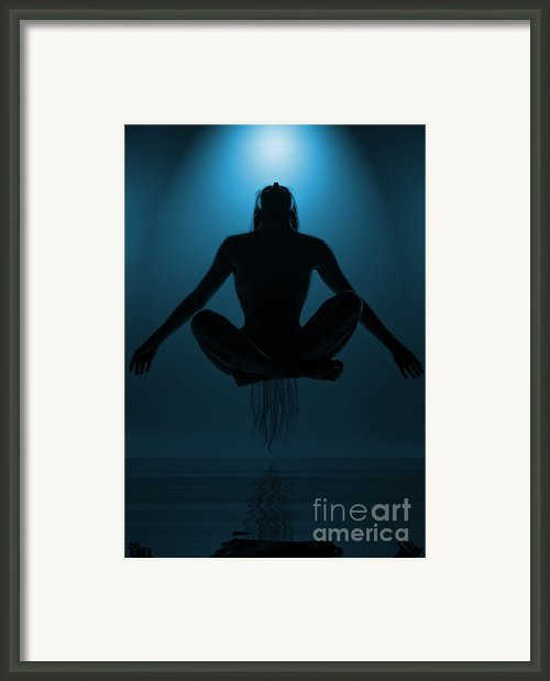 Reaching Nirvana Framed Print By Nina Stavlund