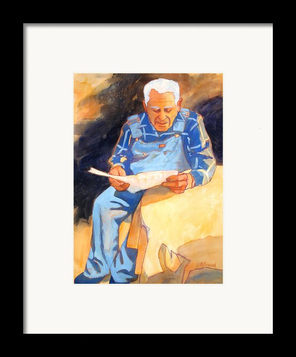 Reading Time Framed Print By Kathy Braud