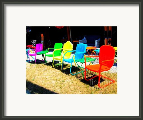 Ready - Set - Sit Framed Print By Mj Olsen
