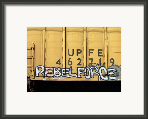 Rebel Force Framed Print By Donna Blackhall