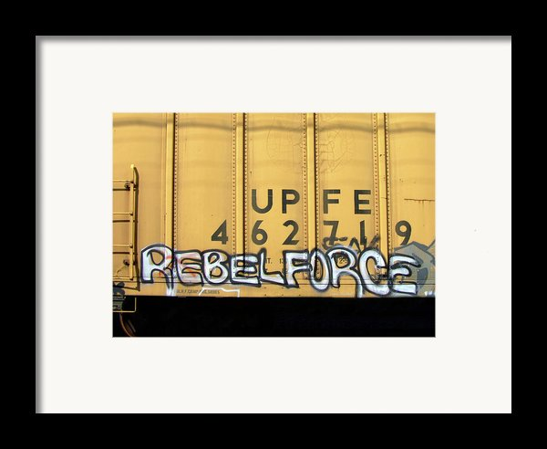 Rebel Force Framed Print By Donna Blackhall