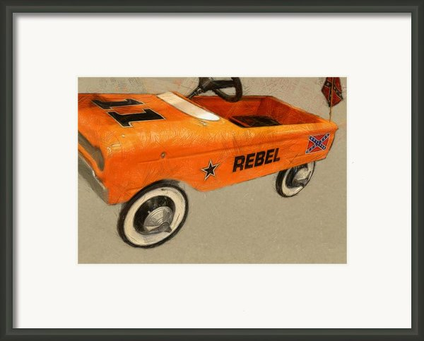 Rebel Pedal Car Framed Print By Michelle Calkins