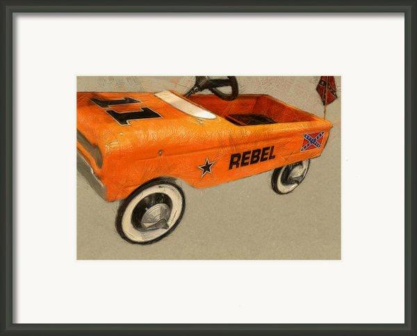 Rebel Pedal Car Framed Print By Michelle Calkins