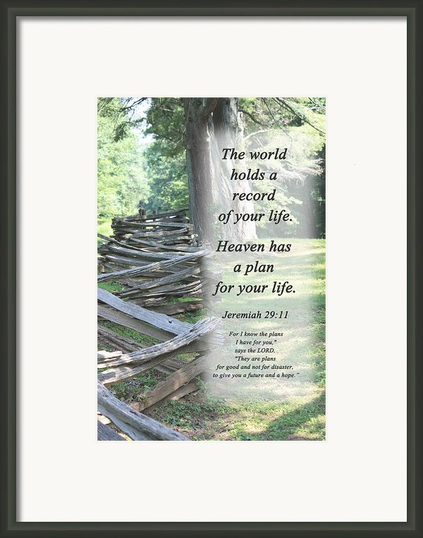 Records Framed Print By Inspirational  Designs