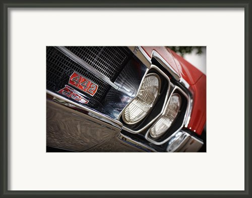 Red 1966 Olds 442  Framed Print By Gordon Dean Ii