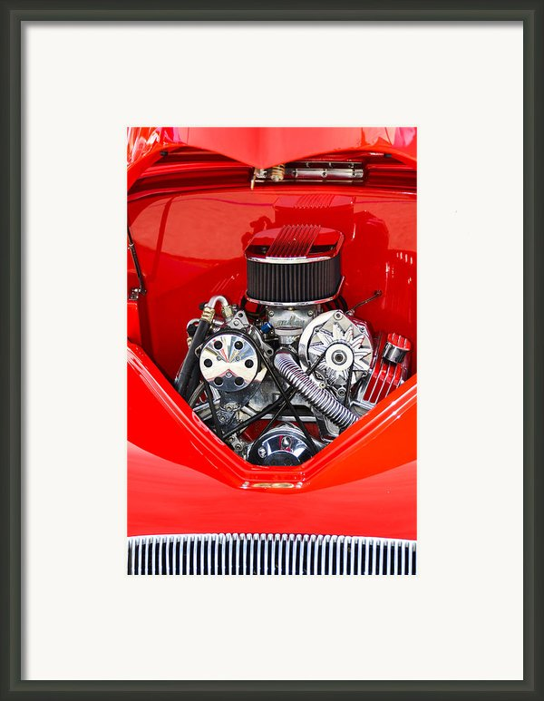 Red And Chrome Framed Print By Carolyn Marshall