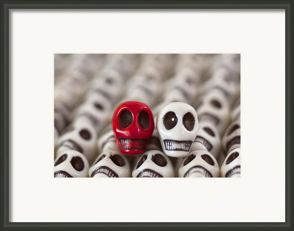 Red And White Framed Print By Mike Herdering