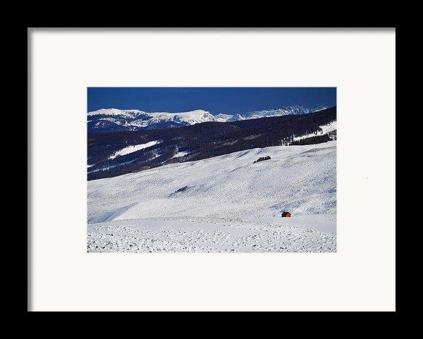 Red Barn Framed Print By Skip Hunt