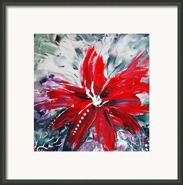 Red Beauty Framed Print By Teresa Wegrzyn