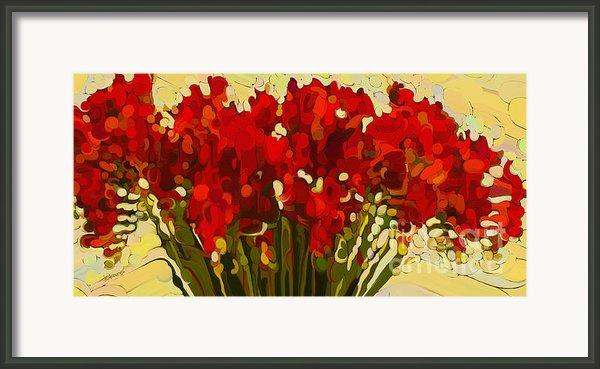 Red Bouquet Framed Print By Dorinda K Skains