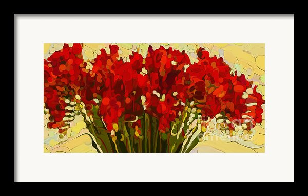 Red Bouquet Framed Print By Dorinda K Skains