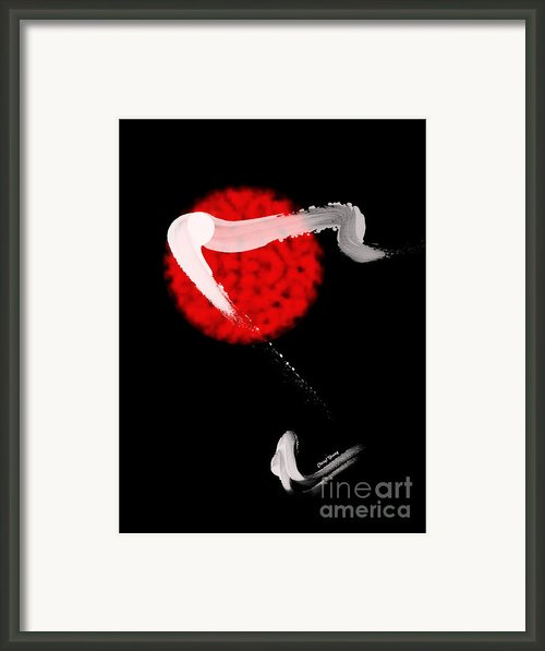 Red Bull Framed Print By Cheryl Young