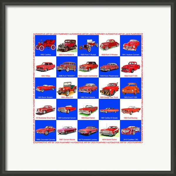 Red Cars Of America Framed Print By Jack Pumphrey