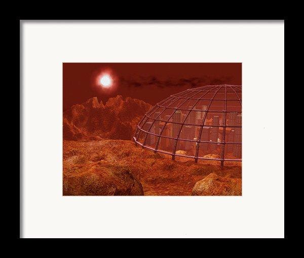 Red City Framed Print By Anastasiya Malakhova
