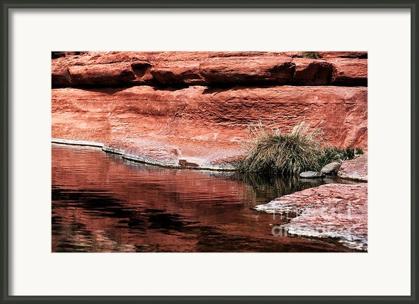 Red Creek Framed Print By John Rizzuto