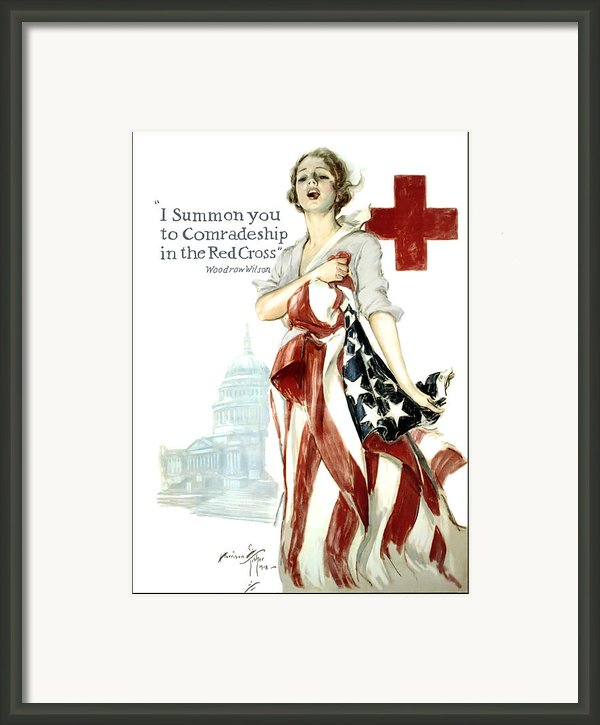 Red Cross World War 1 Poster  1918 Framed Print By Daniel Hagerman