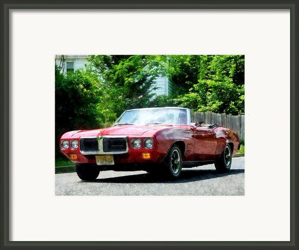 Red Firebird Convertible Framed Print By Susan Savad