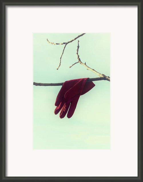 Red Glove Framed Print By Joana Kruse