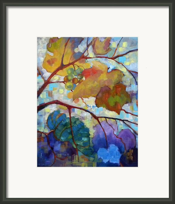 Red Grape Vines Iii Framed Print By Peggy Wilson