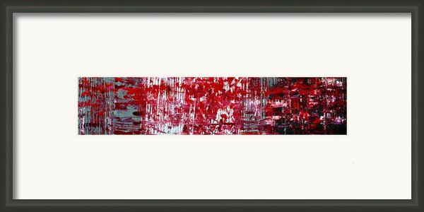 Red Grey White And Black Framed Print By Martina Niederhauser