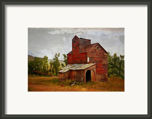 Red Mill Montana Framed Print By Marty Koch