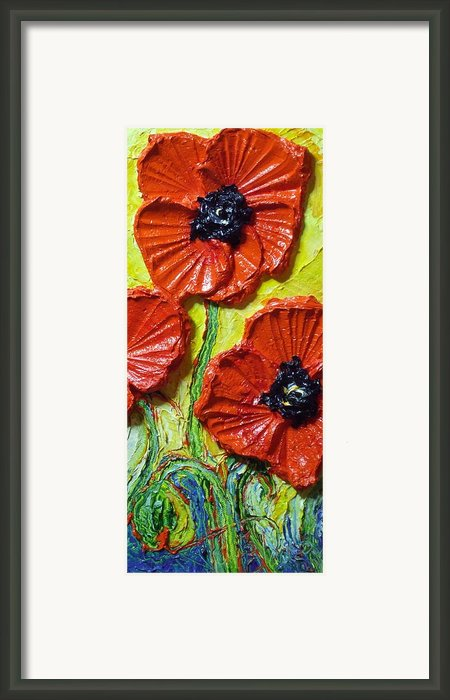 Red Poppies Ii Framed Print By Paris Wyatt Llanso