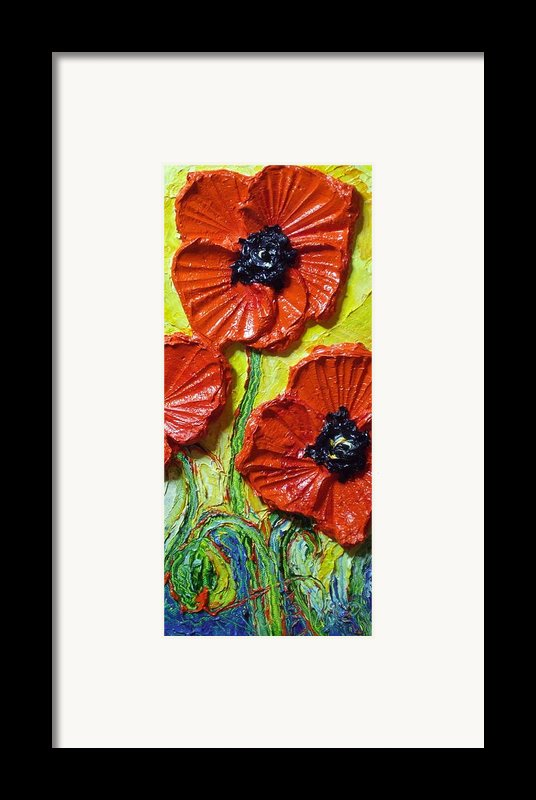 Red Poppies Ii Framed Print By Paris Wyatt Llanso