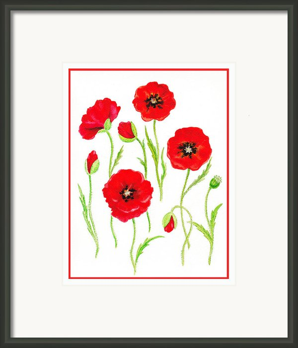 Red Poppies Framed Print By Irina Sztukowski