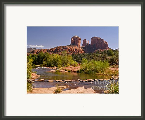 Red Rock Crossing Framed Print By Alex Cassels