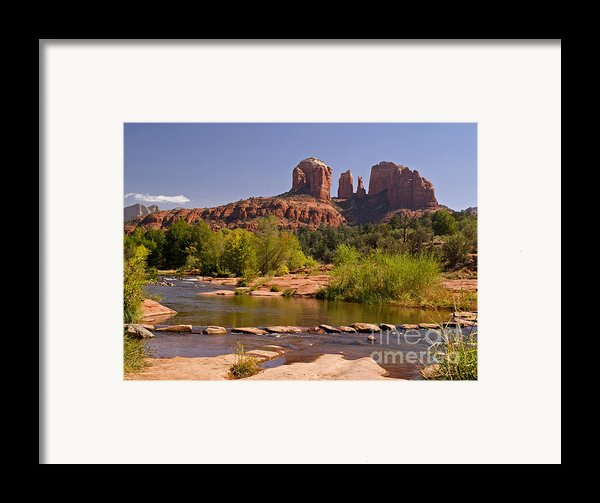 Red Rock Crossing Framed Print By Alex Cassels