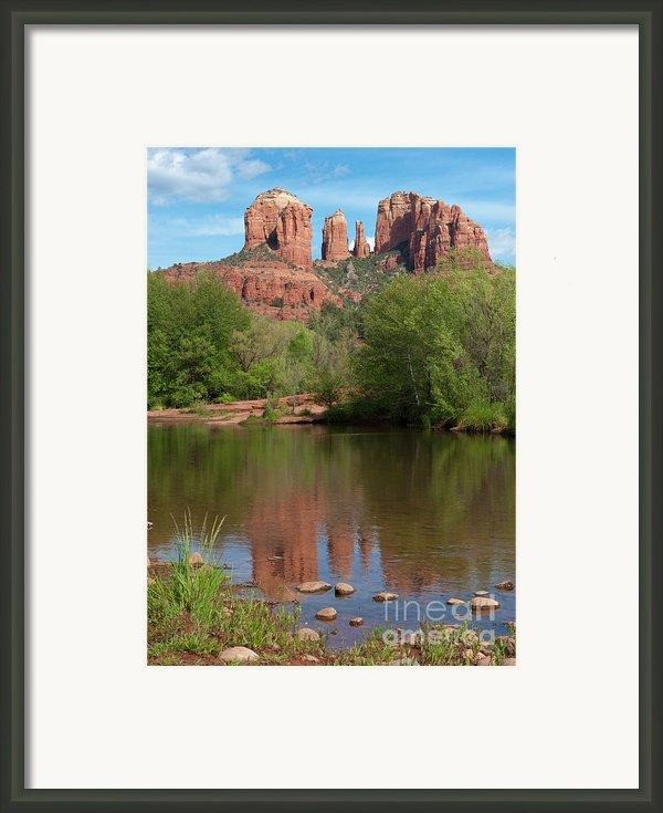 Red Rock Crossing In Sedona Framed Print By Sandra Bronstein