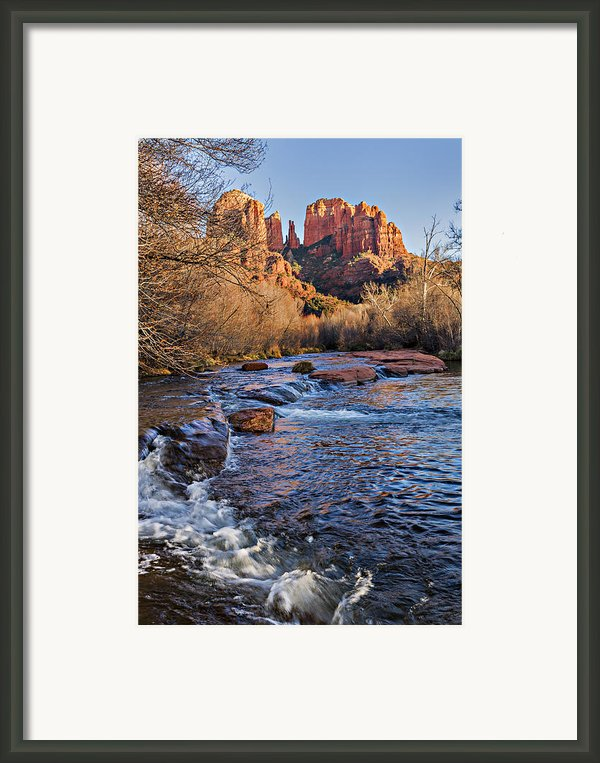 Red Rock Crossing Winter Framed Print By Mary Jo Allen
