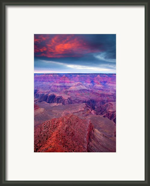 Red Rock Dusk Framed Print By Mike  Dawson