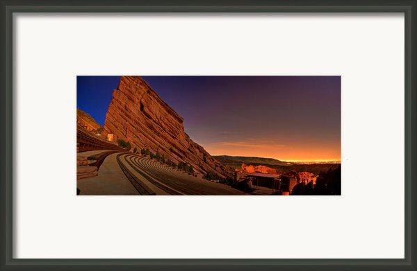 Red Rocks Amphitheatre At Night Framed Print By James O Thompson
