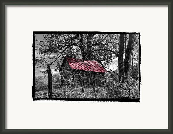Red Roof Framed Print By Debra And Dave Vanderlaan
