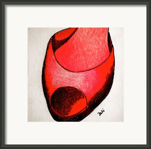 Red Shoe Framed Print By Debi Pople