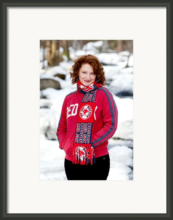 Red Sox Girl Framed Print By Greg Fortier