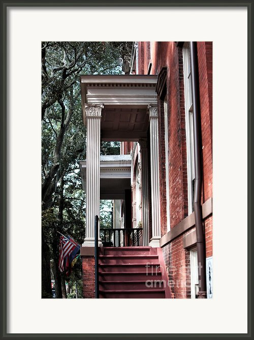 Red Stairs Framed Print By John Rizzuto