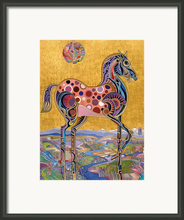 Red Stallion Overlook Framed Print By Bob Coonts
