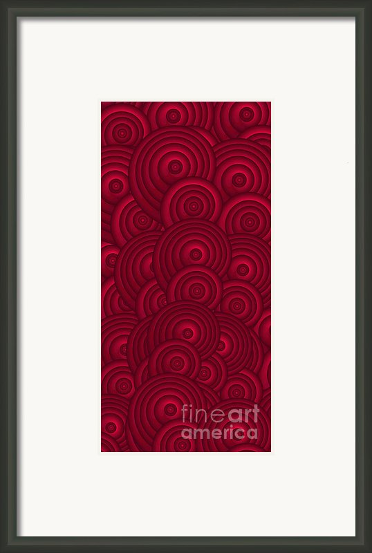 Red Swirls Framed Print By Frank Tschakert
