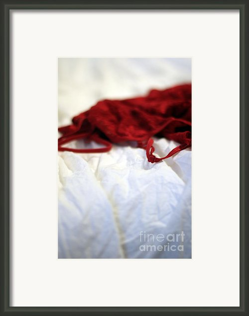 Red Framed Print By Trish Mistric